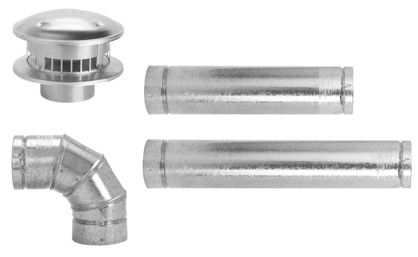 "Selkirk 4"" Galvanized Horizontal Vent Pipe Kit"