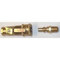 "Mr Heater F276181 1/4"" Quick Connect with Ball Valve"