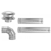 "Selkirk 3"" Galvanized Horizontal Vent Pipe Kit"