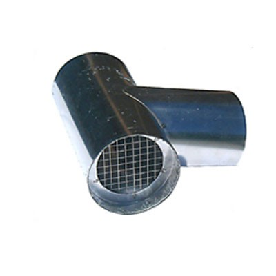 "Z Vent III Termination Tee Stainless Steel Vent Pipe 3"" Diameter"