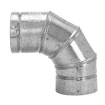 "Selkirk 4"" Galvanized Adjustable 90 Degree Elbow"